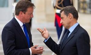 Cameron clashes with Sarkozy over euro