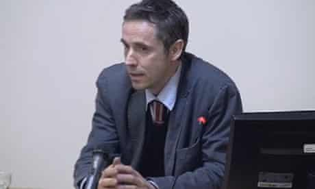 Paul McMullan giving evidence at the Leveson inquiry