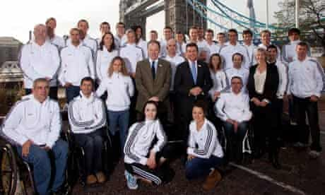 Members of the GB Paralympic team