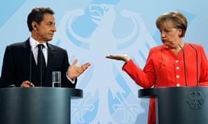 French President Nicolas Sarkozy and German Chancellor Angela Merkel.