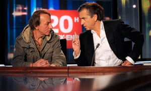 Michel Houellebecq and Bernard-Henri Lévy on French TV in 2008