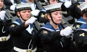 Female Sailors of the Royal Navy HMS Illustrious
