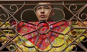 Karmapa Lama is seen at a monastery in Dharamsala