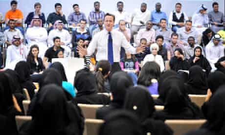 David Cameron, Doha, Qatar