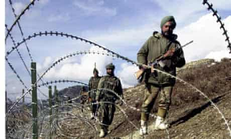Indian soldiers patrol Line of Control