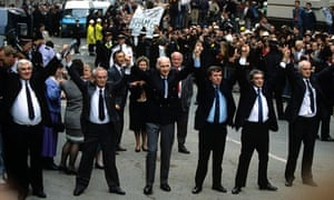 THE RELEASE OF THE BIRMINGHAM SIX AT THE OLD BAILEY, LONDON, BRITAIN - 1991