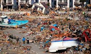 Onagawa, Japan, earthquake wreckage