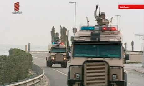 Saudi Arabian troops, Bahrain