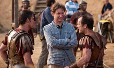 Kevin Macdonald (centre) on the set of The Eagle