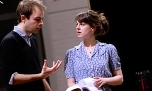 Angus Jackson, director, with Jessica Raine (Cleo)