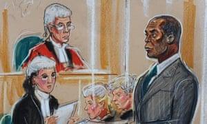 Delroy Grant in court
