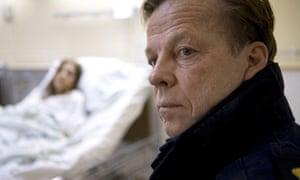Krister Henriksson as Kurt Wallander in a Swedish TV series