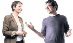 Caroline Lucas and George Monbiot debate nuclear power and renewable energy.