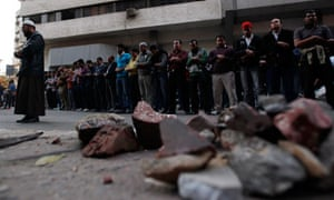 Egyptian protesters, Cairo