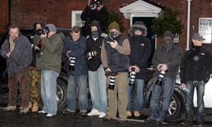 Paparazzi outside Kylie Minogue's house 2008