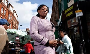 Donna Sinclair, seen in Brixton 30 years after the Brixton uprising of 1981.