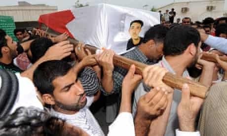 Ali Isa Saqer's funeral