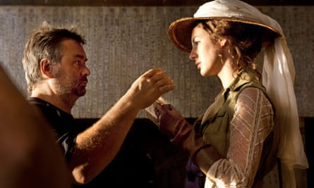 Adele Blanc Sec film still, Luc Besson and Louise Bourgoin