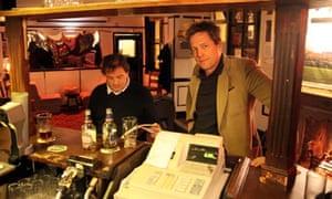 Hugh Grant at The Castle Inn, Dover.