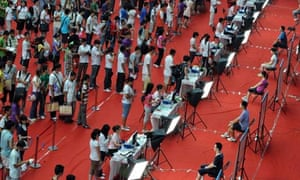 students at Tsinghua University