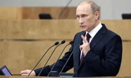 vladimir putin making a speech