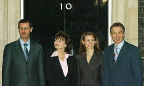 Tony and Cherie Blair with Bashar and Asma al-Assad