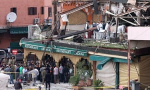 Marrakech cafe after bomb