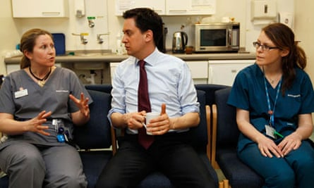 Labour Party Leader Ed Miliband Visits The Univerity College London Hospital