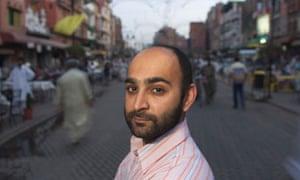 Mohsin Hamid on Anarkali Street in Lahore, Pakistan