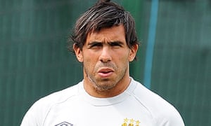Carlos Tevez, Manchester City, Stoke