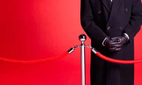 Doorman and velvet rope