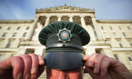 PSNI officer in front of Stormont