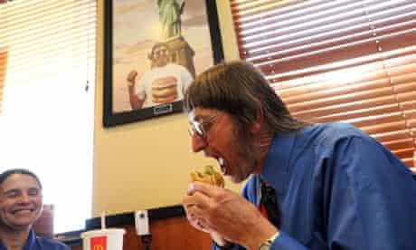 don gorske eating a big mac