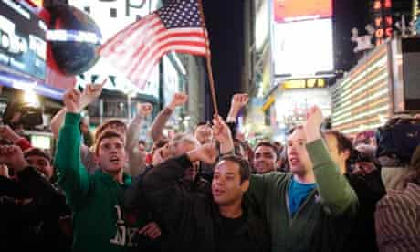 Times Square celebrations after osama's death