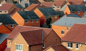 suburban house roofs