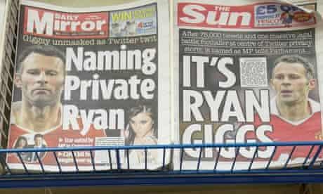 Newspaper headlines Ryan Giggs