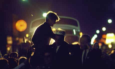 Robert F Kennedy campaigning