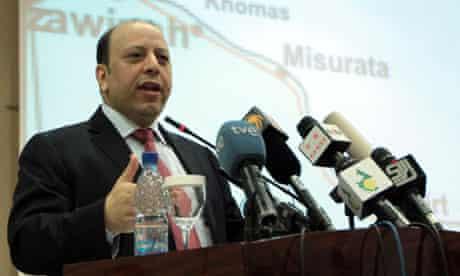 Libyan Deputy Foreign Minister Khaled Kaim press conference in Tripoli, Libya