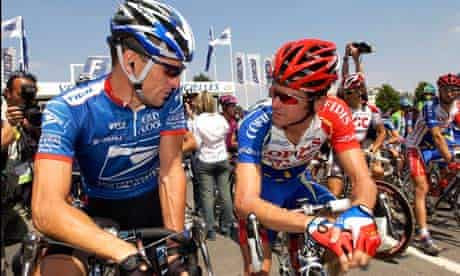 Lance Armstrong (left) and David Millar