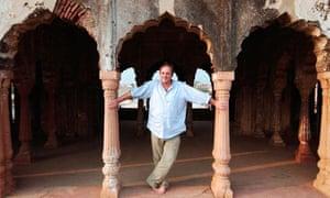 William Dalrymple at the ruins of Zafar Mahal in South Delhi.