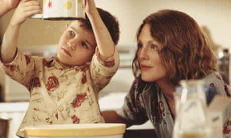 Jack Rovello and Julianne Moore in the film of The Hou