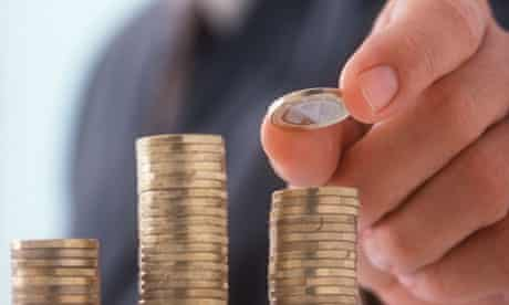 Man and Euro coins