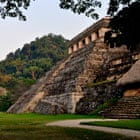 Exterior of tomb in Mayan city of Palenque
