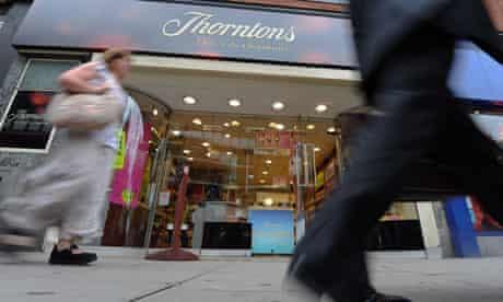Thorntons chocolate shop