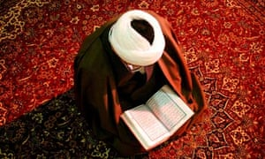 Cleric reads the Qur'an