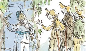 illustration by Quentin Blake for Candide