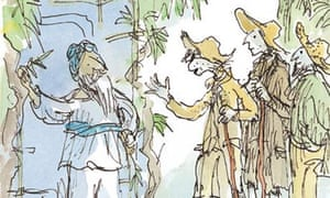 Quentin Blake illustration for Candide