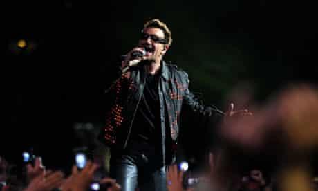 Bono on stage