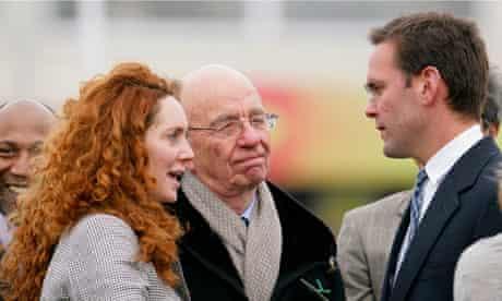 Rebekah Brooks, Rupert and James Murdoch