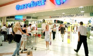 A Carrefour supermarket in France
